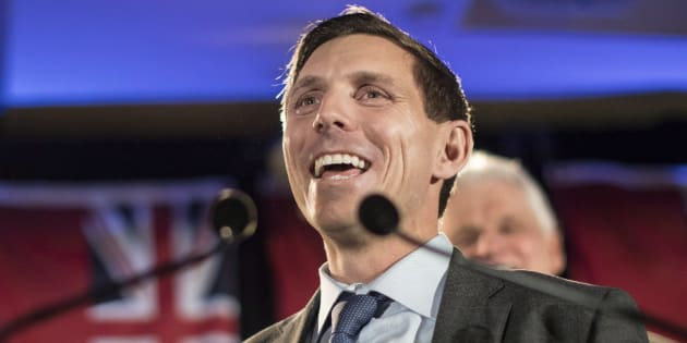 Ontario Conservative leadership candidate Patrick Brown addresses supporters and the media in Toronto on Feb. 18, 2018. The former party leader resigned his position after sexual misconduct allegations, only to re-enter race for his vacated position after refuting the allegations.