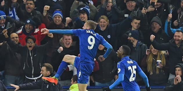 Jamie Vardy scored two in the win. His magic touch, absent so long this season, appears to be returning.