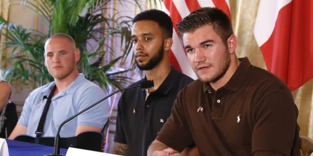 Les trois héros avaient tenu une conférence de presse, deux jours après la tentative d'attentat.
