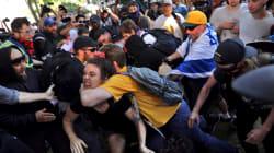 Cortei pro e contro Trump entrano in contatto a Berkeley, tensioni e