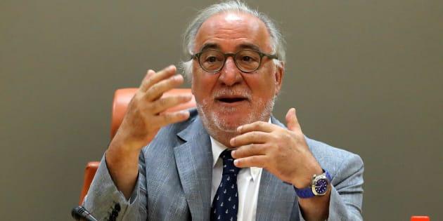 El director general de Tráfico, Pere Navarro, durante su comparecencia de hoy.
