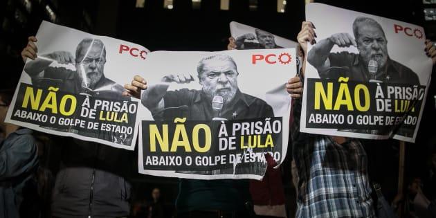 Após a condenação do ex-presidente Lula pelo juiz Sério Moro, manifestantes tomaram a Avenida Paulista, em São Paulo, em apoio ao presidente.