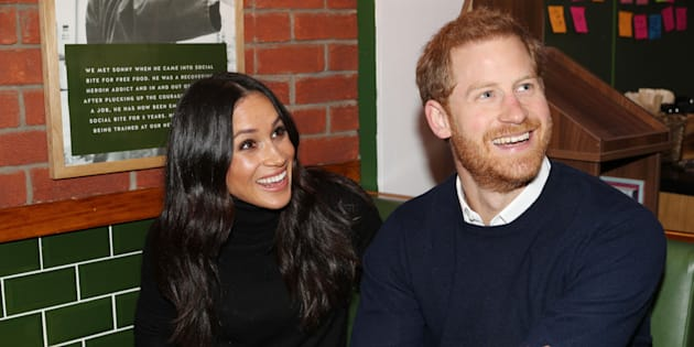 Prince Harry and Meghan Markle during a visit to Scotland on Feb. 13, 2018.