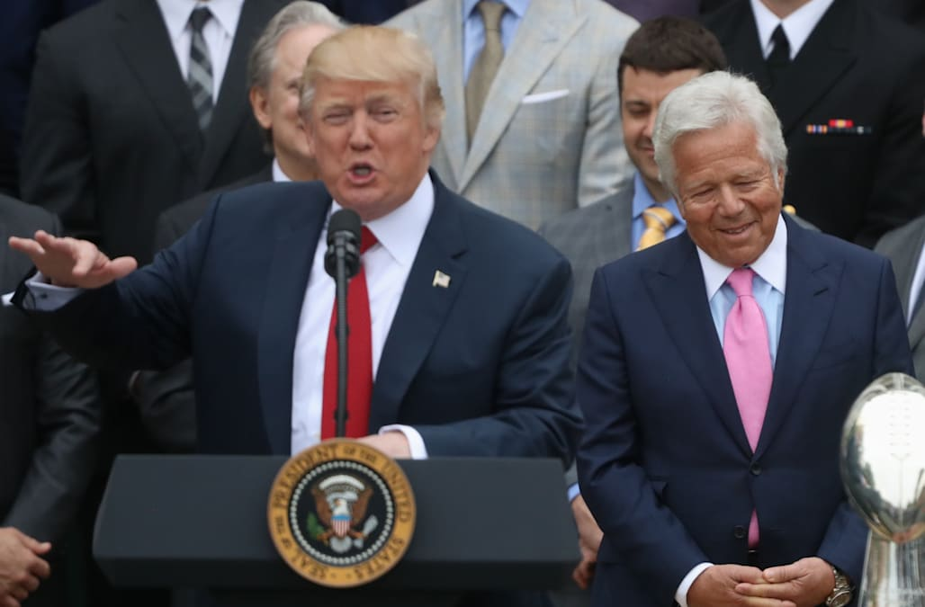 e50d598e2 Trump called New England Patriots owner Robert Kraft every week for a year  to console him after his wife s death