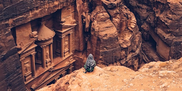 Shot on iPhone - Woman in Petra
