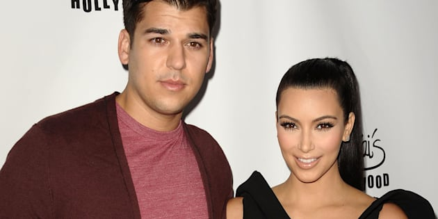HOLLYWOOD, CA - AUGUST 10:  Rob Kardashian and Kim Kardashian attend the World's Most Beautiful Magazine launch event at Drai's Hollywood on August 10, 2011 in Hollywood, California.  (Photo by Jason LaVeris/FilmMagic)