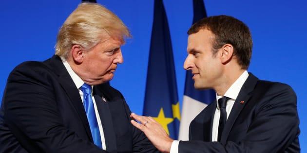 Emmanuel Macron et Donald Trump en conférence de presse le 13 juillet à l'Elysée.