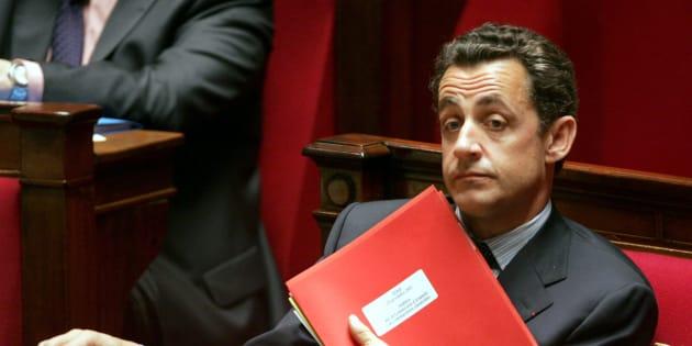 Nicolas Sarkozy à l'Assemblée nationale en 2005