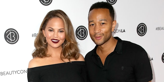 Chrissy Teigen and John Legend attend the 5th Annual Beautycon Festival Los Angeles on August 13, 2017.