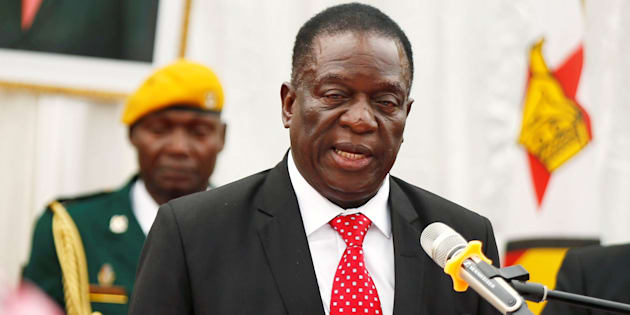 Zimbabwean President Emmerson Mnangagwa Officiates At The Swearing In Ceremony For His Cabinet At State House
