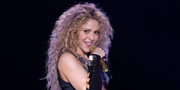 La cantante Shakira, durante el primer concierto de la gira El Dorado World Tour, el 3 de junio de 2018 en Hamburgo (Alemania).