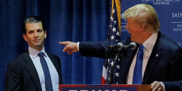 Quand Wikileaks se glissait dans les DM du fils de Donald Trump.