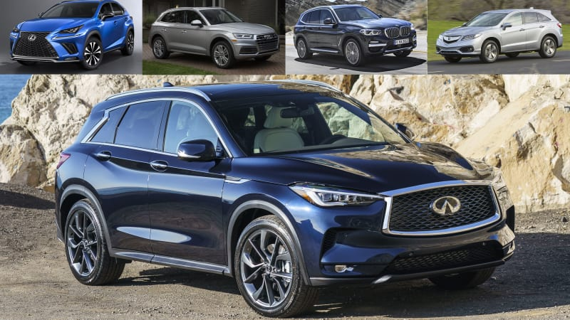 2019 infiniti qx50 vs compact luxury suv rivals how they compare on paper. Black Bedroom Furniture Sets. Home Design Ideas