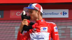 Le cycliste français Rudy Molard leader du tour d'Espagne après la cinquième