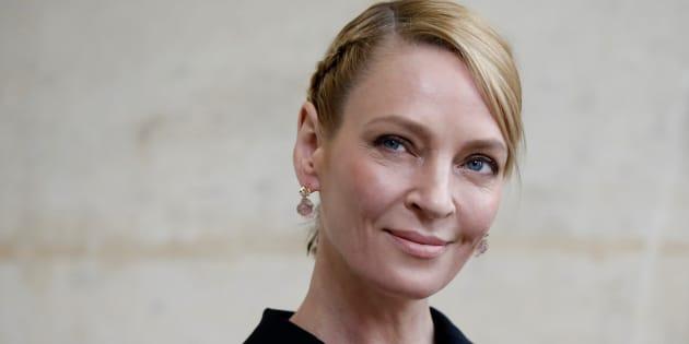 "Au festival de Cannes 2017, Uma Thurman présidera le jury ""Un certain Regard"" (Photo: Uma Thurman à Paris le 3 mars 2017)"