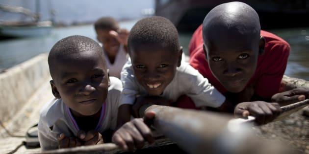 Niños de Haití.