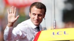 Les images de la visite d'Emmanuel Macron sur le