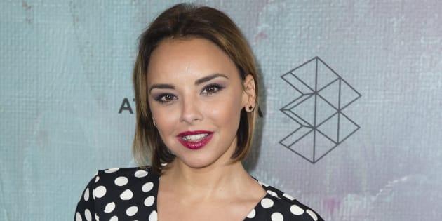 La cantante Chenoa durante la presentación de 'Atresmedia Studio' en Madrid.