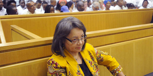 Patricia de Lille pictured during the case between her and the DA at the High Court in Cape Town on February 13 2018.