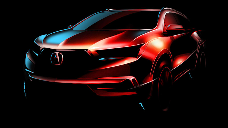 Acura Teases Tougher Looking 2017 Mdx For New York