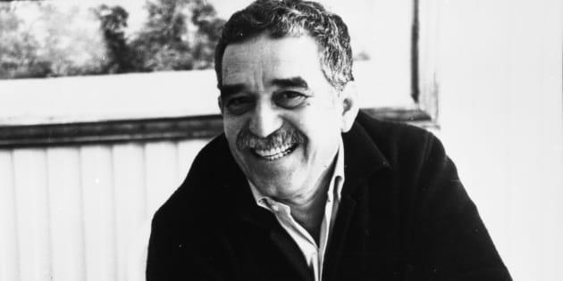 """Gabriel Garcia Marquez, em 1987, celebrando os 20 anos do romance """"Cem anos de solidão"""", que se transformou em um símbolo da literatura latinoamericana."""