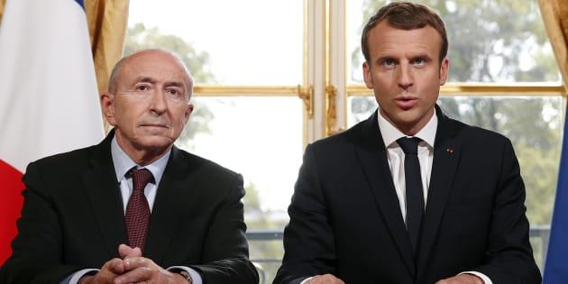 Emmanuel Macron et Gérard Collomb le 30 octobre à l'Élysée.