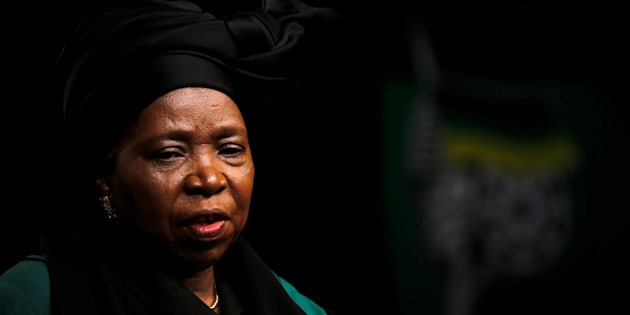 Former African Union chairperson Nkosazana Dlamini-Zuma looks on during the African National Congress 5th National Policy Conference at the Nasrec Expo Centre in Soweto, South Africa, June 30, 2017.REUTERS/Siphiwe Sibeko