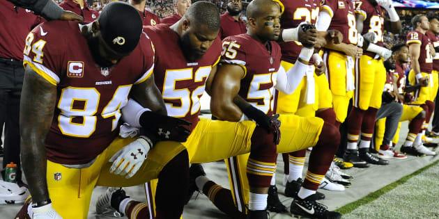 Les athlètes s'attaquent aux institutions américaines, mais plus particulièrement à Trump et à son administration qui ne cessent d'utiliser un langage promouvant la division à l'intérieur de la société.