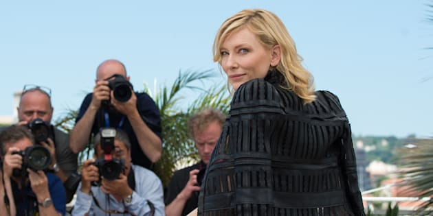 Cate Blanchett lors du photocall de 'Carol' le 17 mai 2015 à Cannes.