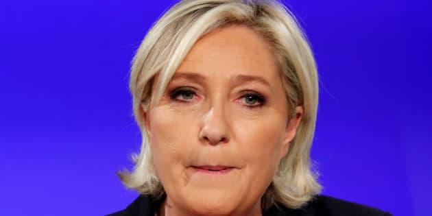 Marine Le Pen au Chalet du Lac, à Paris le soir du second tour de la présidentielle.