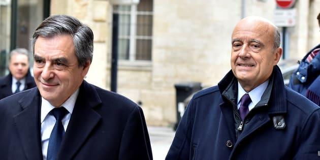 François Fillon et Alain Juppé à Bordeaux le 25 janvier.