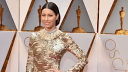 Jessica Biel Is Dressed Exactly Like A Golden Statue And It Really