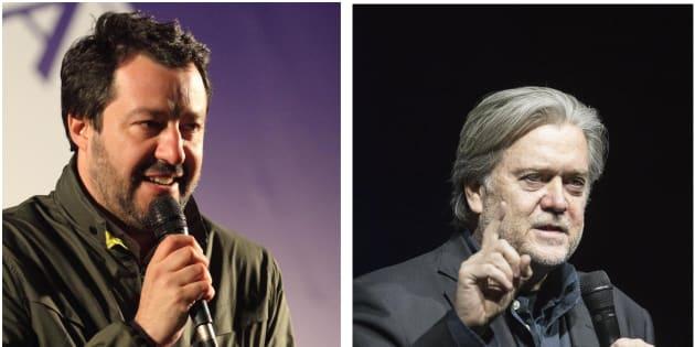 """""""Matteo Salvini e Steve Bannon si sono incontrati a Mil"""