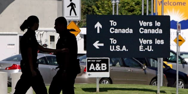 An inspection booth at the Douglas border crossing on the Canada-U.S. border in Surrey, B.C., on Aug. 20, 2009.
