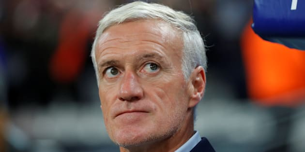 Didier Deschamps au Stade de France le 10 octobre 2017.