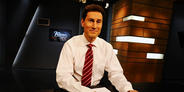 "Steve Paikin of TVO's ""The Agenda"" on the set and in his office at the shows studios on Yonge st at Eglinton."
