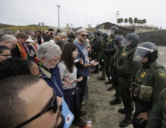 Border agents arrest 32 in San Diego protest