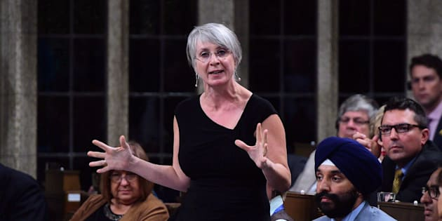 Patty Hajdu, Minister of Employment, Workforce Development and Labour stands during question period in the House of Commons on Sept. 19, 2017.