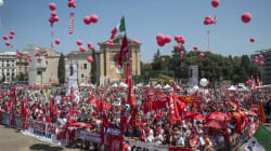 La piazza della Cgil e della sinistra unita sui voucher, ma non è sufficiente per un'unità