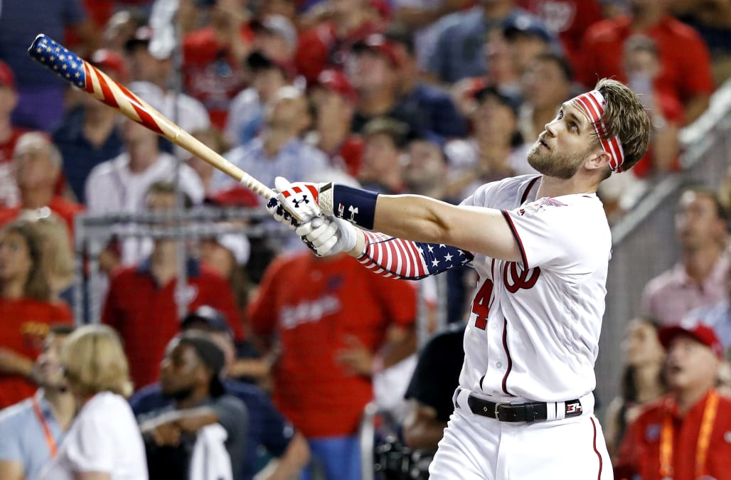 Image result for Bryce Harper wins 2018 MLB Home Run Derby