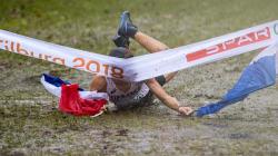 Ce Français a pris sa victoire aux championnats de cross en pleine