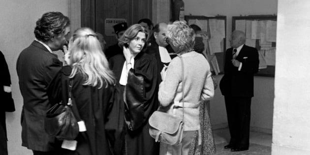 Le procès de Anne et Araceli, défendues par Gisèle Halimi, le 2 mai 1978 à Aix-en-Provence.