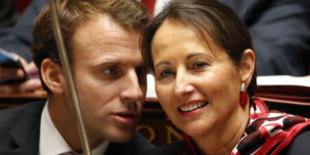 Emmanuel Macron et Ségolène Royal à l'Assemblée nationale en octobre 2014.