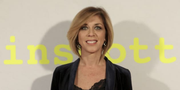 La actriz Eva Isanta, durante la presentación de 'Trainspotting' en Madrid el 3 de abril de 2017.