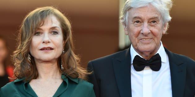 Isabelle Huppert et Paul Verhoeven aux César 2017.