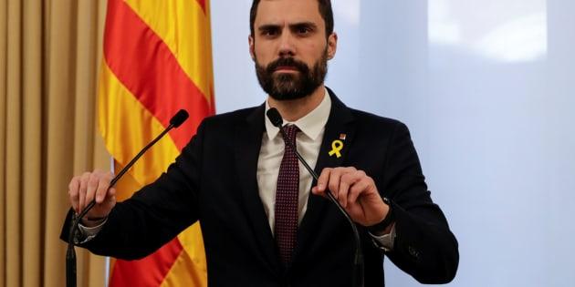 Roger Torrent , presidente del Parlament de Catalunya.