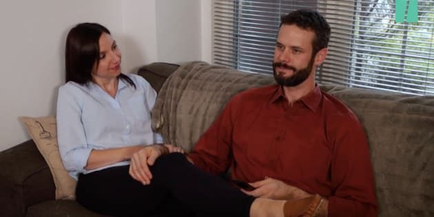 "Parents editor Natalie Stechyson and her husband, Ian, Netflix and chill on a date night in the sex episode of ""Life After Birth."""