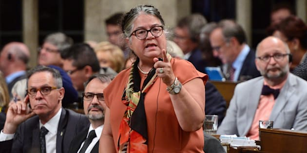 Diane Lebouthillier, Minister of National Revenue, stands during question period in the House of Commons on Parliament Hill on Sept. 21, 2017.