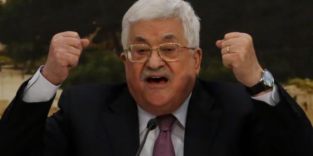 """Pour Mahmoud Abbas, l'offre de paix de Donald Trump est la """"claque du siècle""""."""