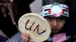 Empleados de la ONU protestan en Gaza contra recorte de fondos de